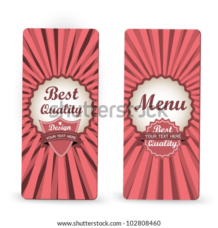 Elegant vector vintage stickers - menu, best quality