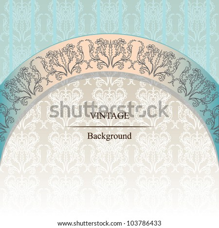 Elegant vintage background. Ornate invitation. Vector