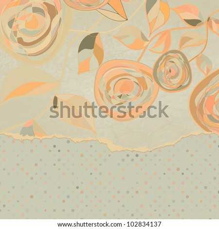 Elegant vintage card template with copy space. EPS 8 vector