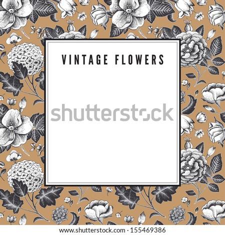 elegant vintage card with