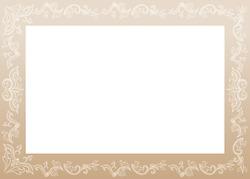 Elegant vintage decorative vector frame. Artistic horizontal filigree border with copyspace. Fashionable invitation, greeting card floral design element. Rectangular luxury botanical ornament