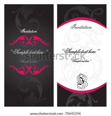 elegant vintage floral invitation