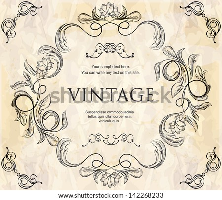 Contoh Frame Design Floral Thpho Stock Vectors