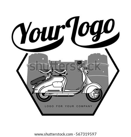 elegant vintage scooter logo