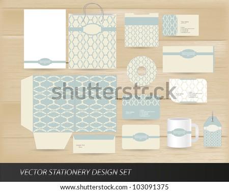 Elegant vintage stationery design set