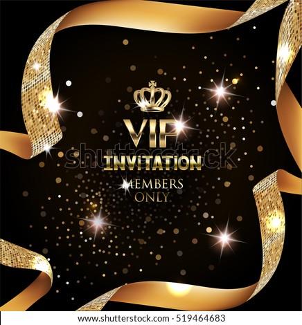 elegant vip invitation card