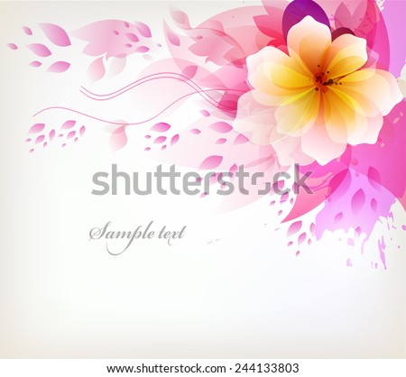 elegant watercolor vector