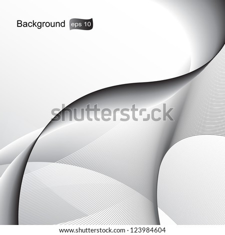 Elegant Wavy Background - Vector illustration. Beautiful background for your design