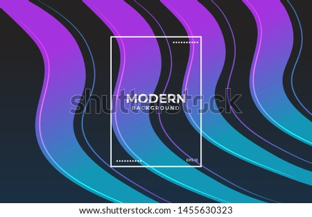 Elegant wavy background. Wavy shape background with gradient color ideal for banner. poster, landing page, social media