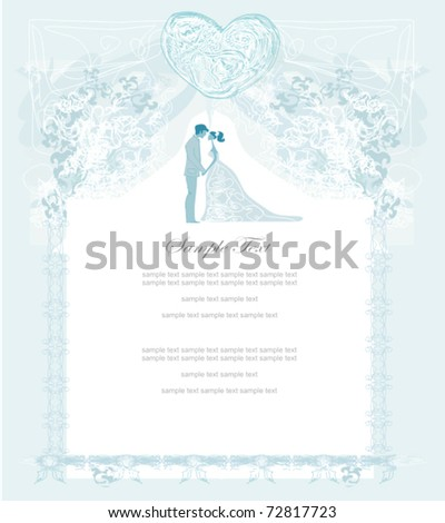 elegant wedding invitation - stock vector