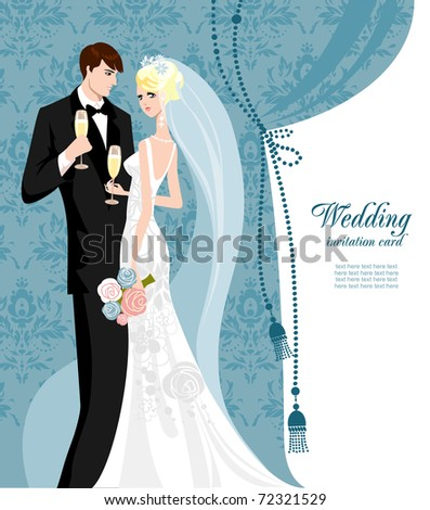 Elegant wedding with space for text