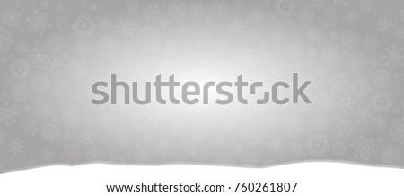 elegant winter banner silver