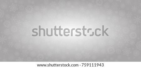 elegant winter silver banner