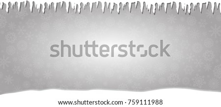 elegant winter silver snowy