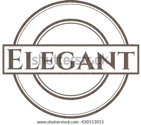 Elegant wood emblem. Vintage.