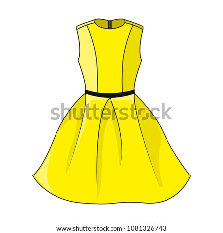 elegant yellow dress icon