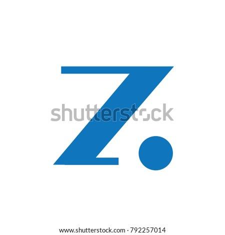 Elegant Z Letter Sans Serif Classic Modern Form Logo Stok fotoğraf ©