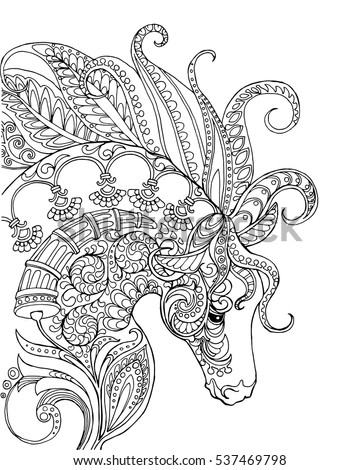 elegant zentangle patterned