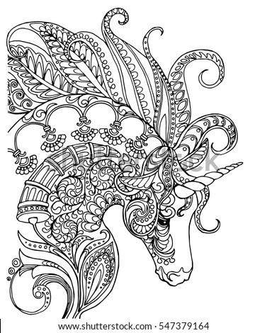 elegant zentangle patterned