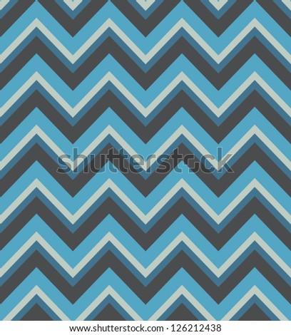 Elegant zigzag seamless pattern. Chevron pattern in blue colors. Vector illustration