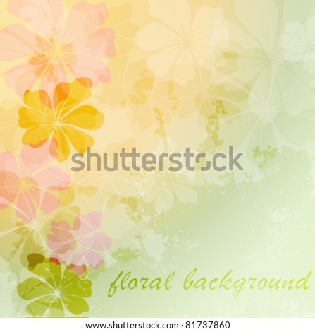 Elegantly floral background, eps10 format