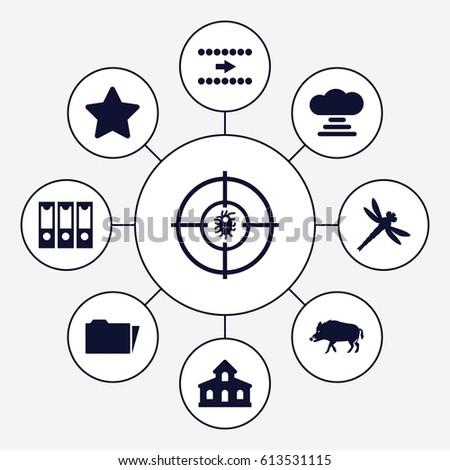 element icons set set of 9