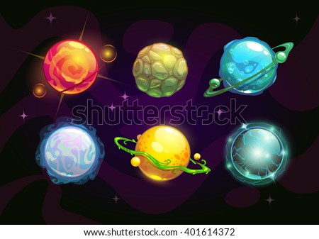elemental planets  fantasy