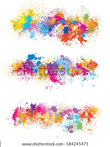 elements  for design from paint
