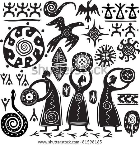 Elements for designing primitive art