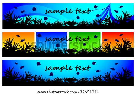 Elements of coral reef for web-site.