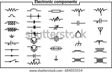 Electronic Circuit Symbol Vectors Download Free Vector Art Stock
