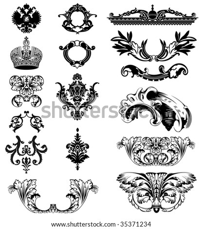 Elements of imperial ornament. Vector illustration