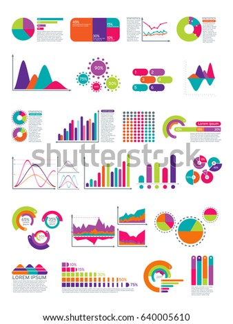 Elements of infographic with flowchart. Vector statistics diagrams website layout template