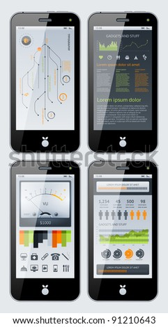 Elements of Infographics with gadgets and stuff