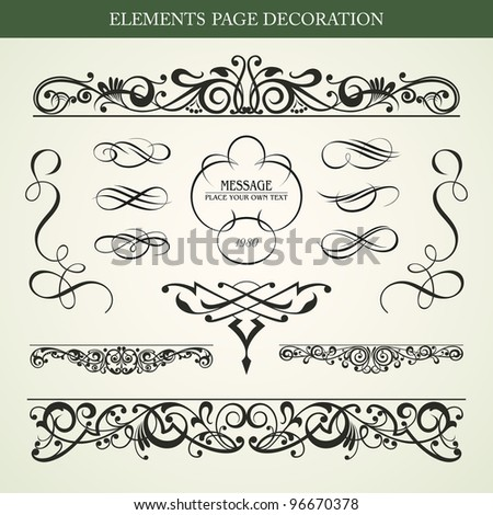 Elements page decoration vector design - stock vector