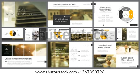 Elements with toned photos on white background. For presentation slide templates. Business concept can be used for annual reports, marketing, advertising, layouts and posters design