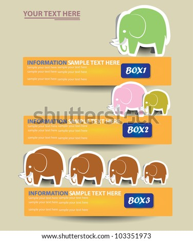 Elephant banner ,background,Vector