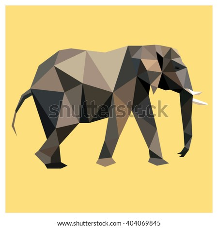 elephant colorful low poly