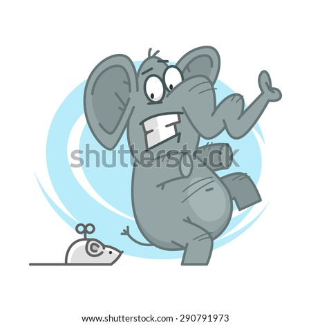 elephant frightened of