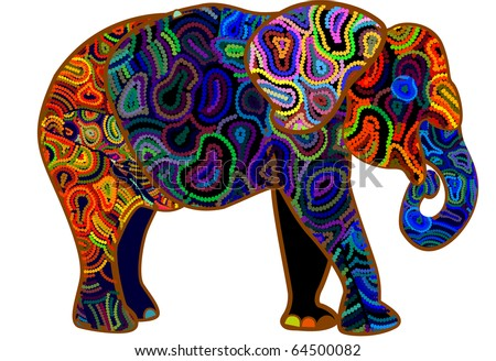 elephant from different elements is a symbol of Africa