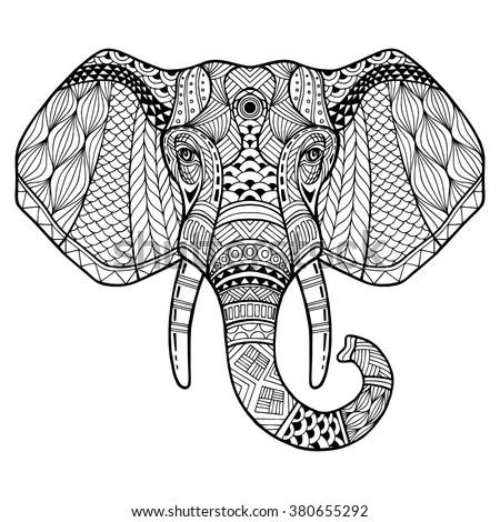 elephant from the front with