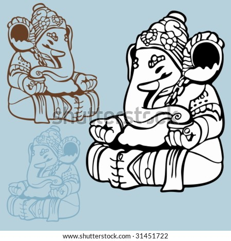 Indian Elephant God Drawing Elephant God Drawing Indian