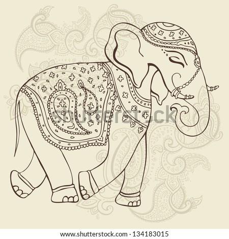 Elephant Hand Elephant Hand Drawn Vector
