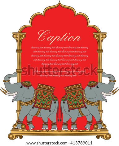 elephant in indian art style 5