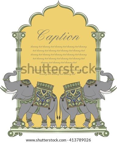 elephant in indian art style 2