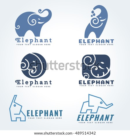 elephant logo sign vector