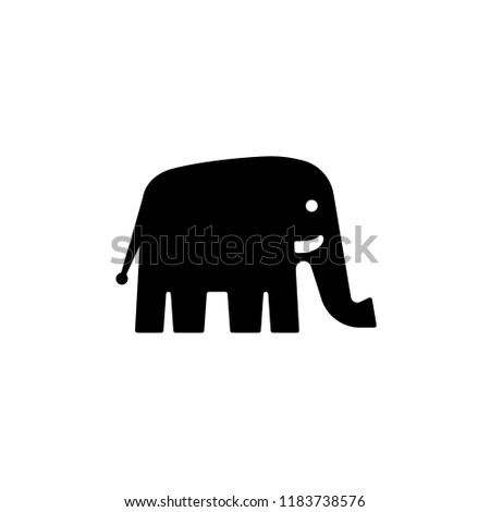 Elephant logo template, vector icon isolated on white background Stock fotó ©