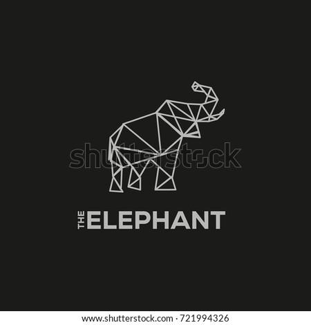 Elephant Logo VECTOR FLAT TEMPLATE