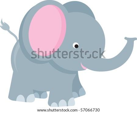 elephant modern color cartoon