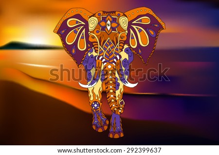 elephant ornament over a